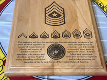 Load image into Gallery viewer, Marine Corps - Staff NCO Promotion/Retirement Plaque - Pikes Peak Laser Creations