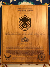 Load image into Gallery viewer, Air Force - Retirement Plaque - Pikes Peak Laser Creations
