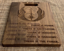 Load image into Gallery viewer, Star Wars - Jedi Code Cutting Board - Pikes Peak Laser Creations