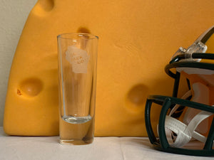 Green Bay Packers - Go Pack Go Shot Glass 2oz - Pikes Peak Laser Creations