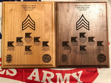 Load image into Gallery viewer, Army - Promotion/Retirement Plaque - Pikes Peak Laser Creations