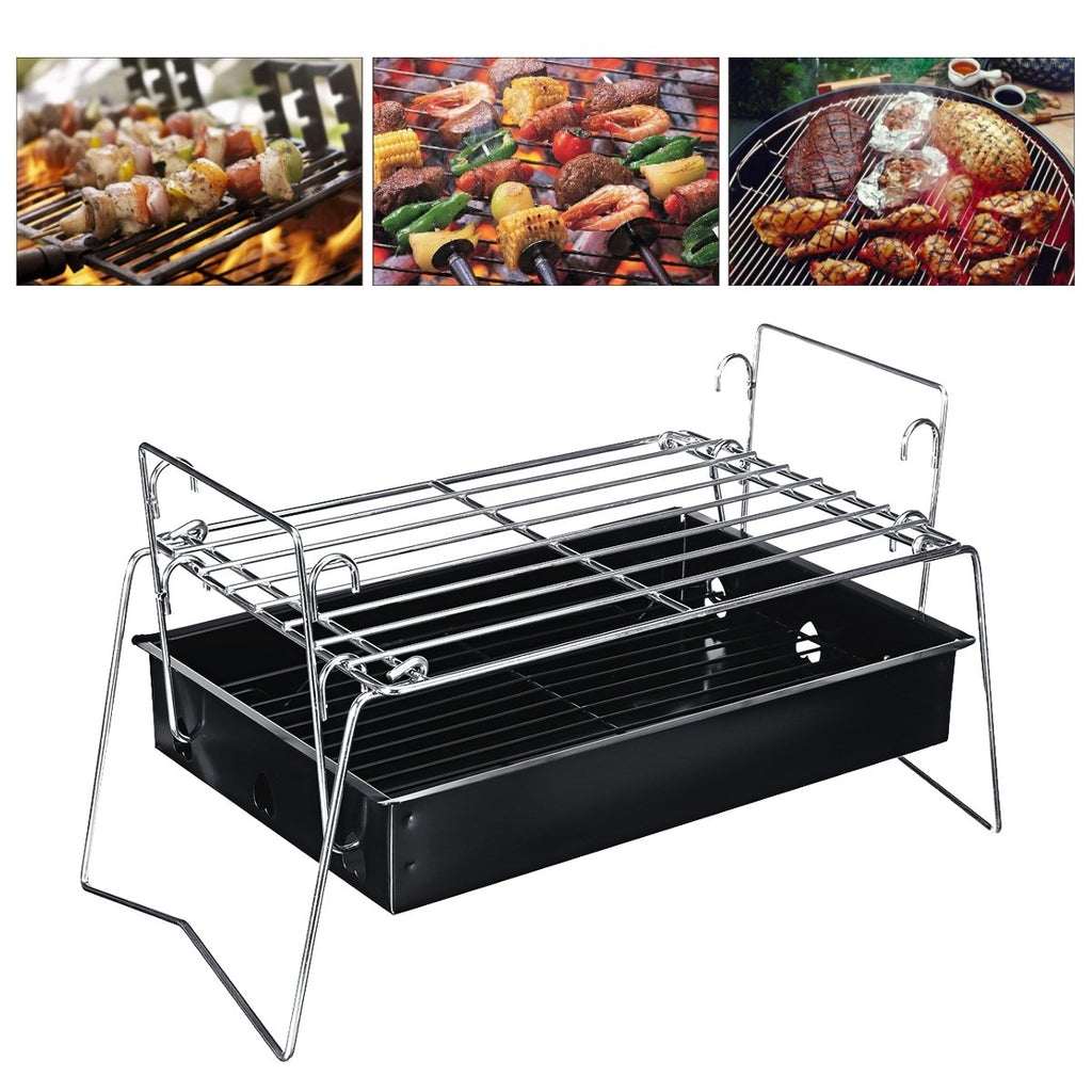 Outdoor Portbable Folding BBQ Barbecue Charcoal Grill Camping Picnic Cooking Stove