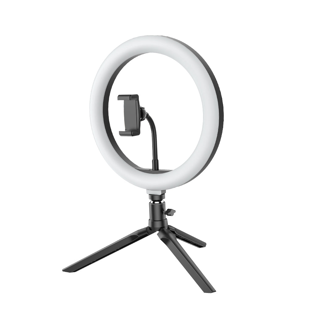 BlitzLight™ Selfie Ring Light 10inch Dimmable LED with Tripod Stand and Remote Control Shutter for Youtube Live Stream Makeup with Phone Clip
