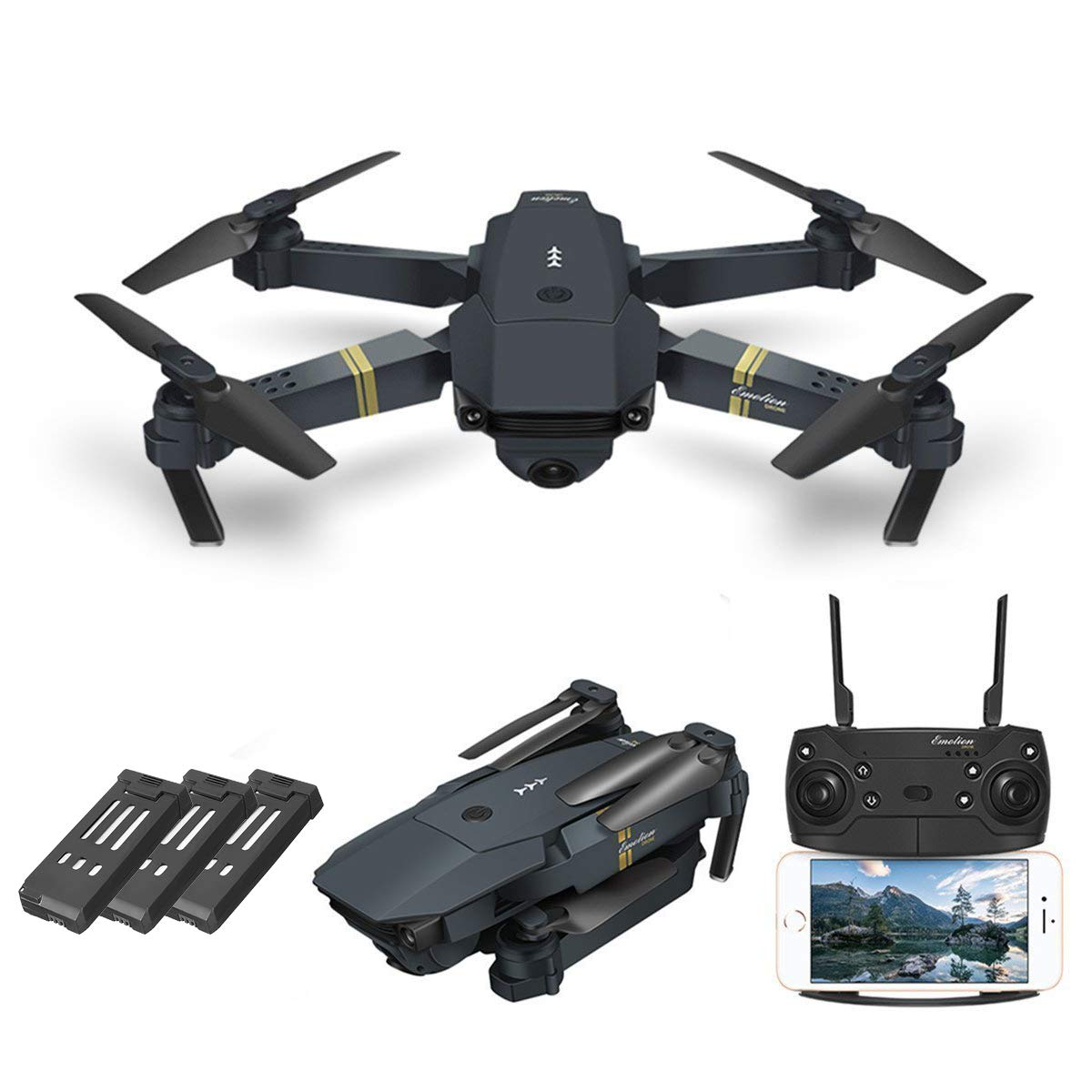 FlyChine™ Quadcopter Foldable Drone With Camera Live Video