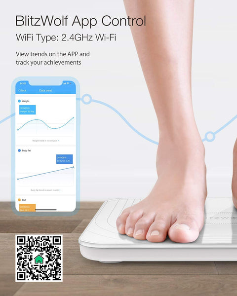FitShape WiFi Smart Body Fat Digital Weight Scale