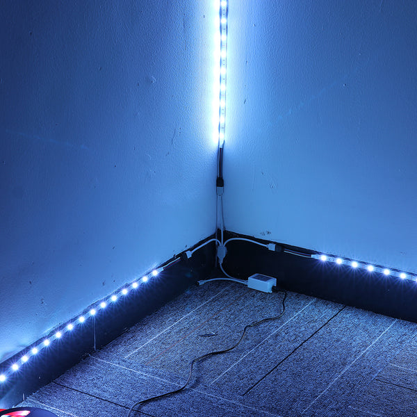 Elfeland 3*4M 5050 RGB LED Strip Light Non-Waterproof + Controller + Remote Control + 12V 5A Power Supply