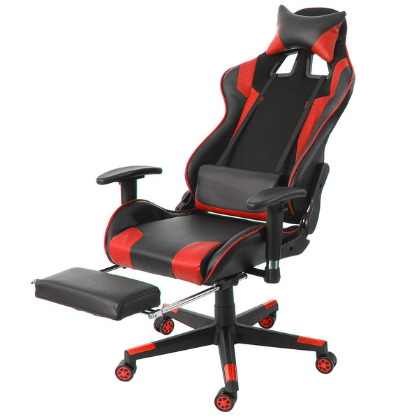 JRace™ Ergonomic Gaming Office Chair with Footrest