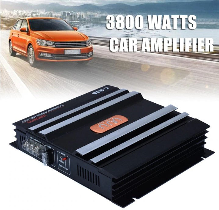 AmpPower™ 2 Channel Car Audio 3800W Amplifier