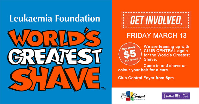 World's Greatest Shave at Club Central Hurstville
