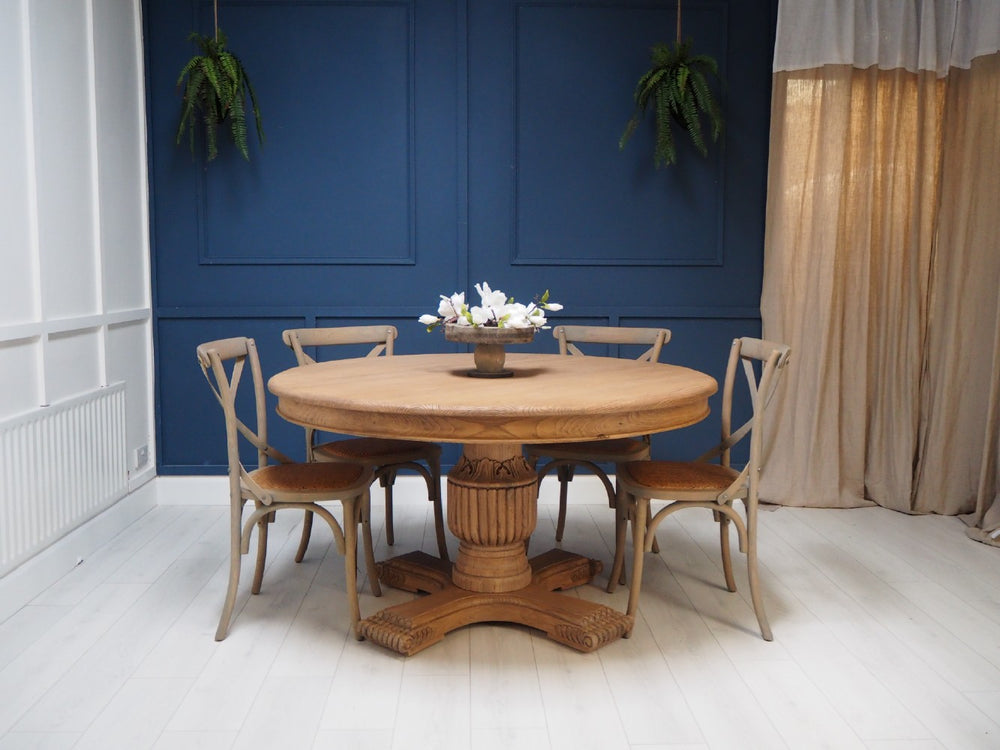 Sienna Round Dining Table 160cm 6 8 Seater In Brown Podfurniture