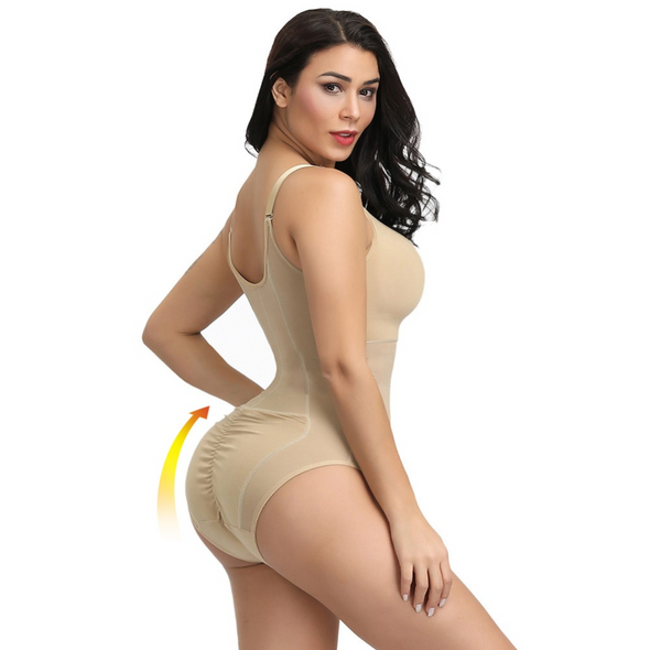 Right Shapez YUKA Zip and Hook Corset Bodysuit Shaper