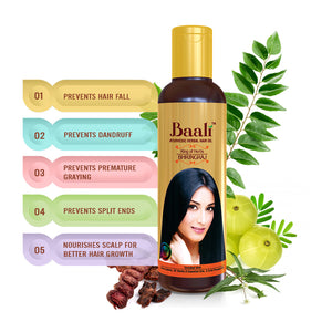 Baali Ayurvedic Herbal Hair Oil (Pack of 5)