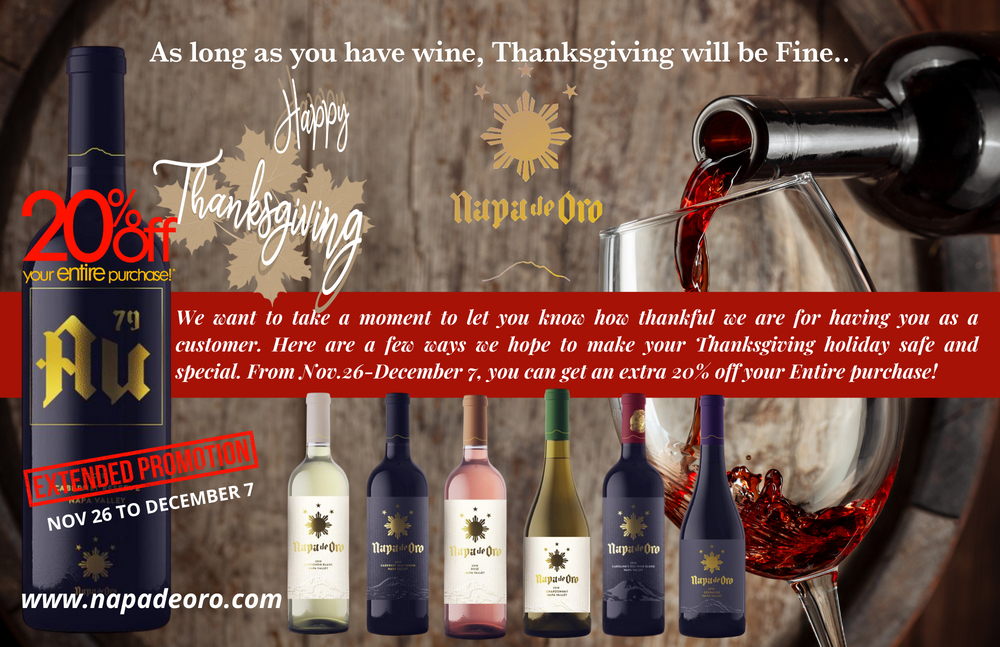 As long as you have wine, Thanksgiving will be fine.
