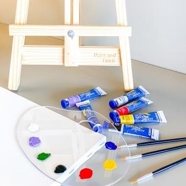 CASAREVIVA - Kit de Pintura Individual - Paint And Drink - Arte