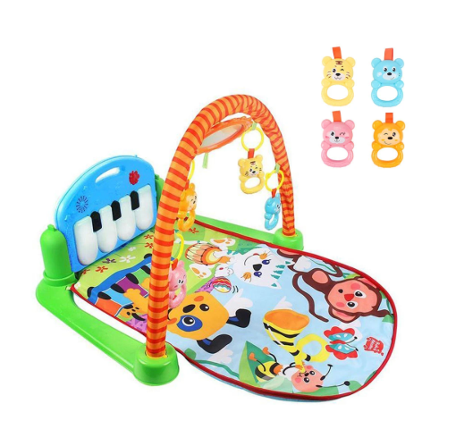 Baby Playmat Gym Activity Centre 3-in-1 Piano Belly Time Jungle