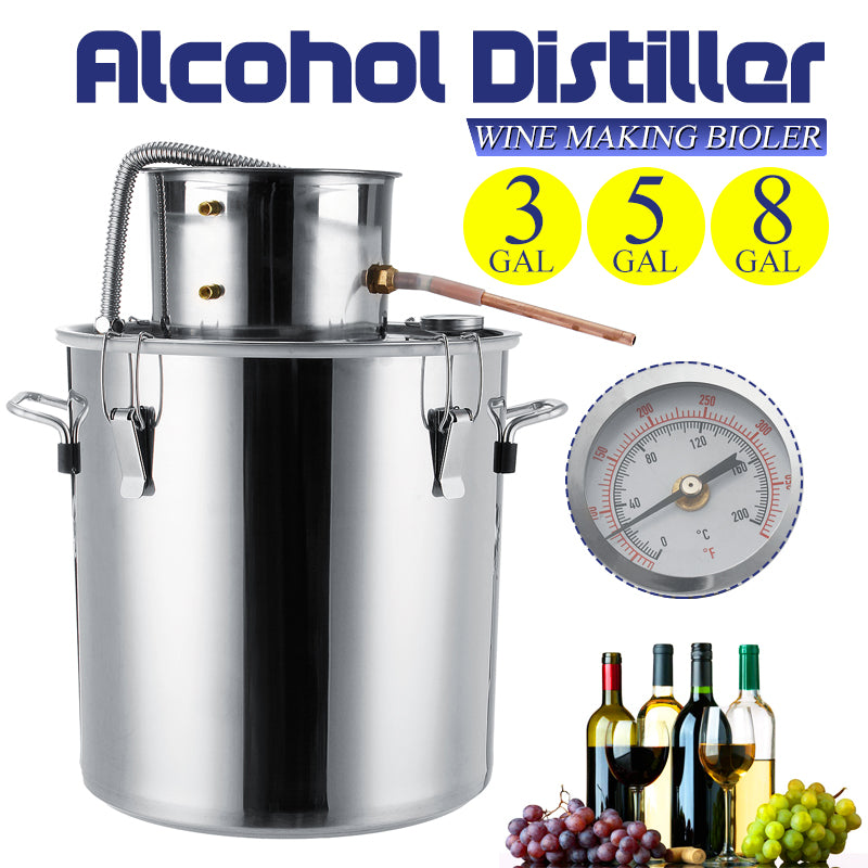 Water Distiller Alcohol Distiller Stainless Boiler Liquid Making Equipment Kit