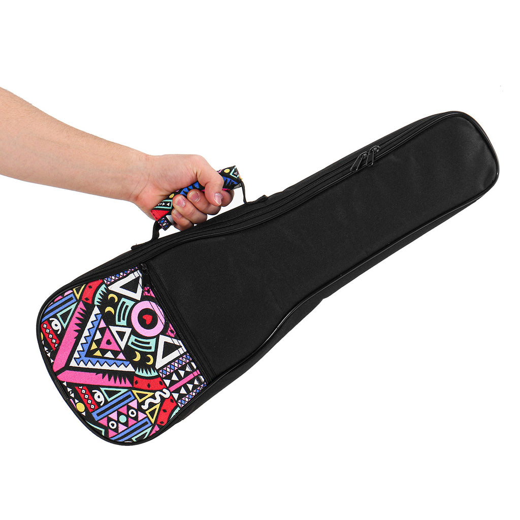 "Ukulele Bag 21"" 23"" 26-Inch Oxford Cloth Gig Case Soft Padded for Ukulele"