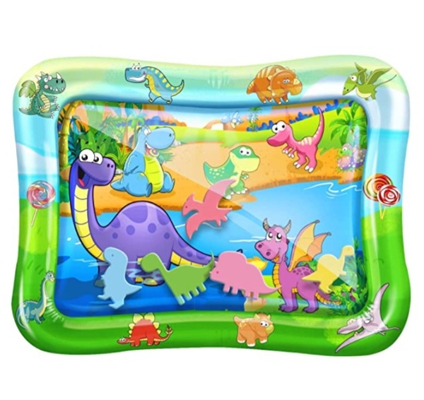 Baby Water Mat Tummy Play Time with Dinosaurs