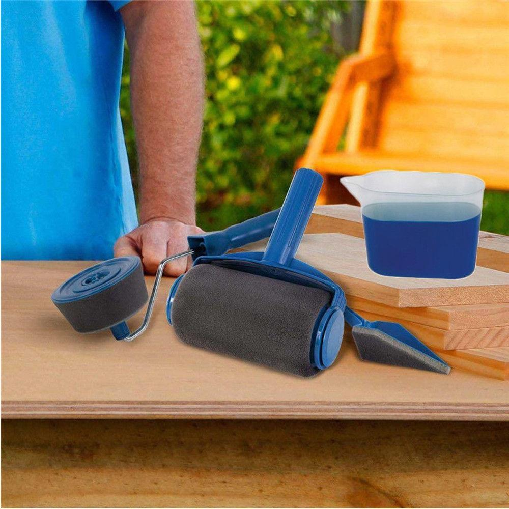 8 in 1 Paint Roller Kit Easy Painting on Any Surface Walls, Decks, Ceilings, Furnitures
