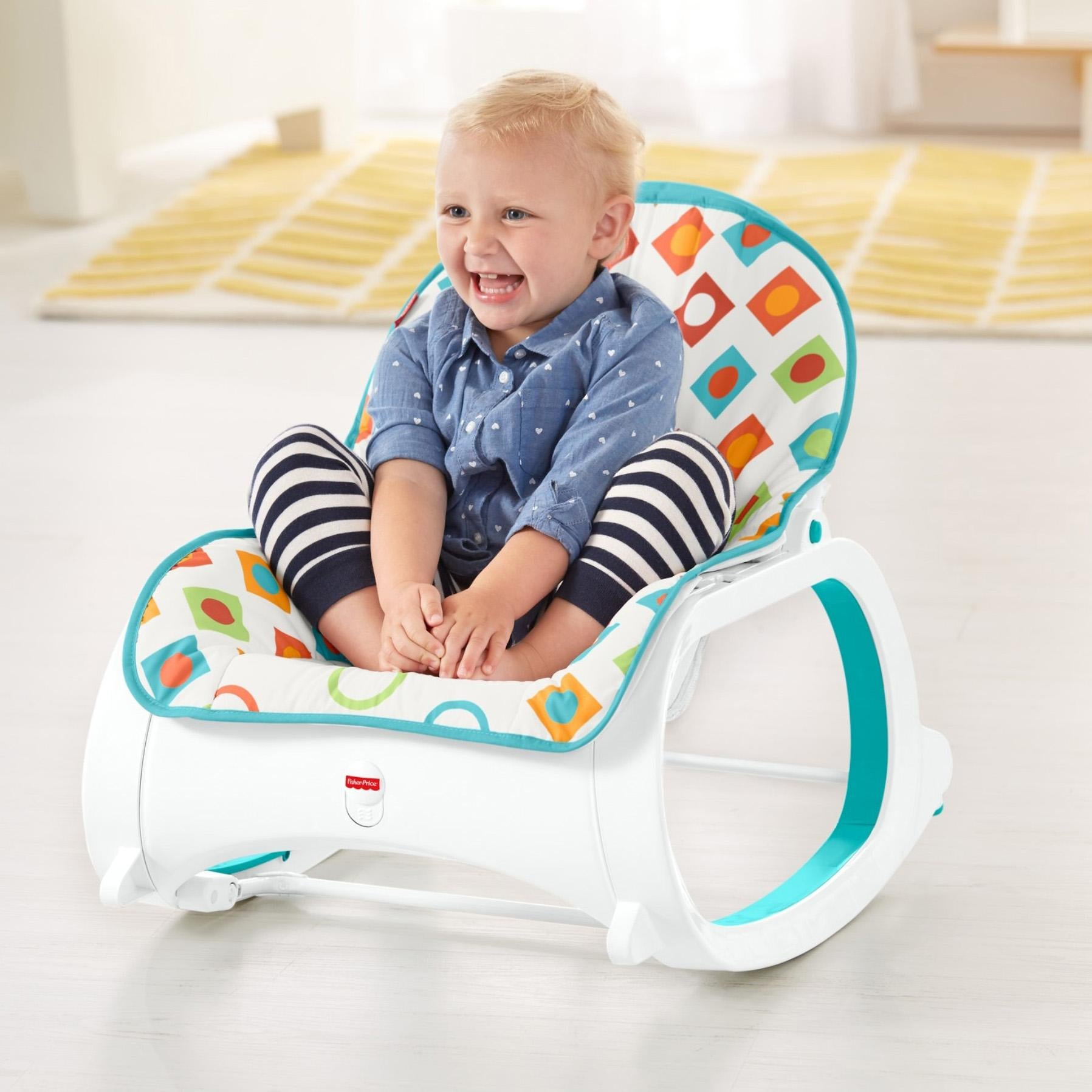 Fisher Price Baby Infant-to-Toddler Rocker Calming Vibrations Soothe Comfort Baby
