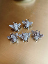 Load image into Gallery viewer, Set 6 pin-uri Silver Bee