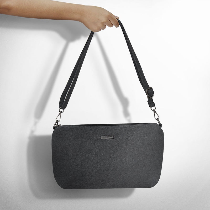 Black Canva Sling Bag