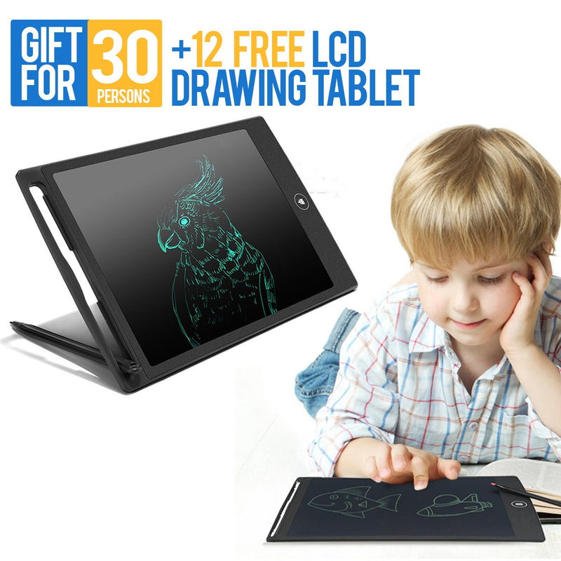 30 LCD Drawing Tablet + 12 Free LCD Drawing Tablet