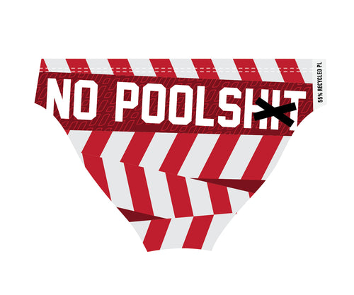 No poolshit briefs RED/WHITE