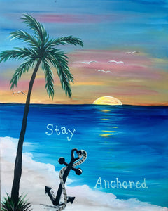Stay Anchored (permanece anclado) - Canvas Mérida Fine Print Art