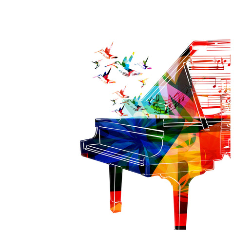 Image of Piano colorfull (abstracto) - Canvas Mérida Fine Print Art
