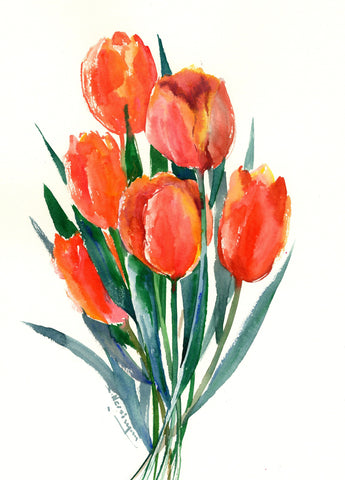 Image of Tulip Flowers (tulipanes) - Canvas Mérida Fine Print Art