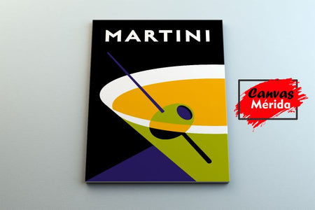 Cool martini - Canvas Mérida Fine Print Art
