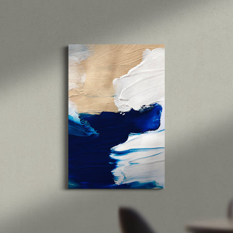 Deep blue abstract - Canvas Mérida Fine Print Art