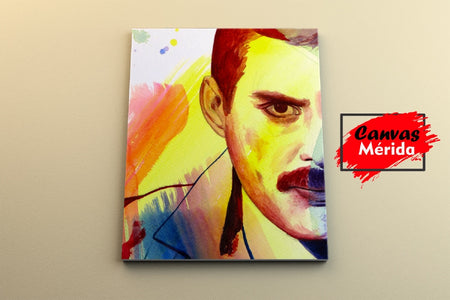 Freddie Mercury number 9 - Canvas Mérida Fine Print Art (4512445923467)