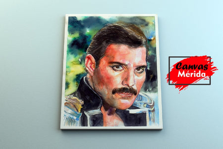 Freddie Mercury number 10 - Canvas Mérida Fine Print Art