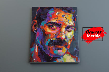 Freddie Mercury number 1 - Canvas Mérida Fine Print Art
