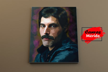 Freddie Mercury number 3 - Canvas Mérida Fine Print Art