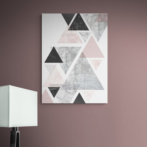Geometric Pink and Black - Canvas Mérida Fine Print Art