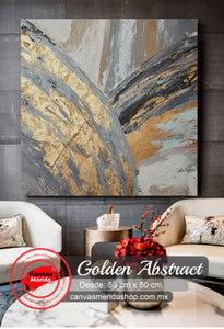 Golden Abstract - Canvas Mérida Fine Print Art