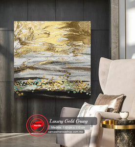 Luxury Gold Grung - Canvas Mérida Fine Print Art