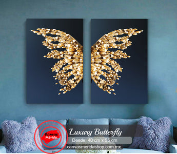 Luxury Butterfly - Canvas Mérida Fine Print Art