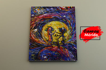Nightmare-Before-Christmas - Canvas Mérida Fine Print Art
