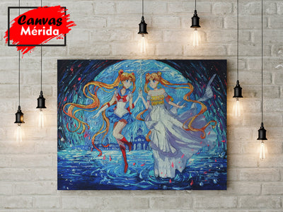 Pretty-Soldier-Sailor-Moon - Canvas Mérida Fine Print Art