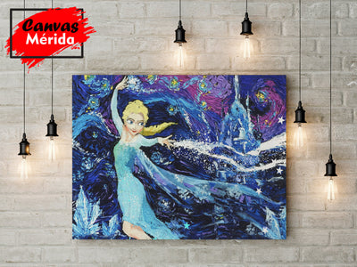 Princess-Elsa - Canvas Mérida Fine Print Art
