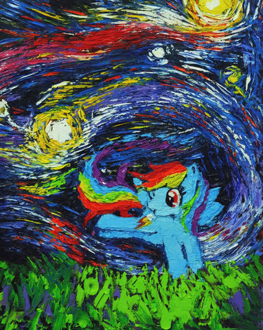 Image of Rrainbow-Dash - Canvas Mérida Fine Print Art