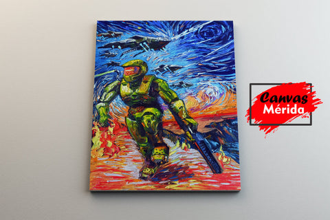 Image of Super-Soldier-Master - Canvas Mérida Fine Print Art