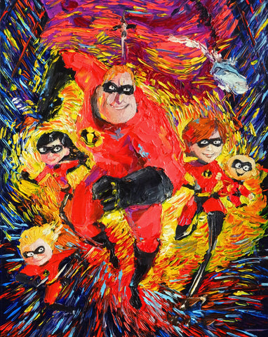Image of The-Incredibles - Canvas Mérida Fine Print Art