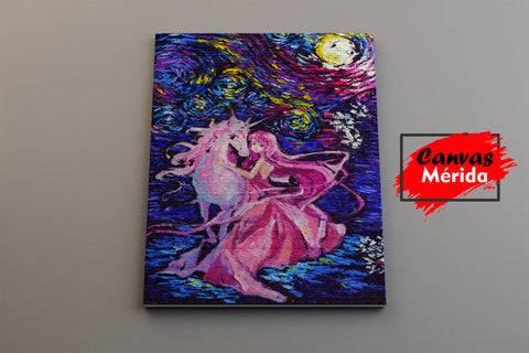 Image of The-Last-Unicorn - Canvas Mérida Fine Print Art