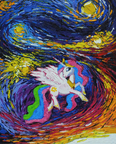 Image of The-Little-Pony - Canvas Mérida Fine Print Art