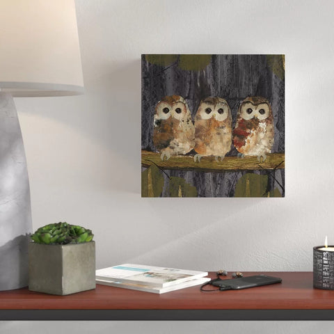 Three Tawny Owls - Canvas Mérida Fine Print Art